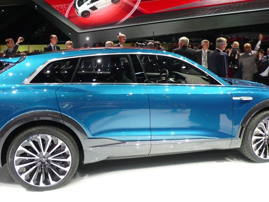 Audi Shows Off E Tron Quattro Luxury Electric Crossover