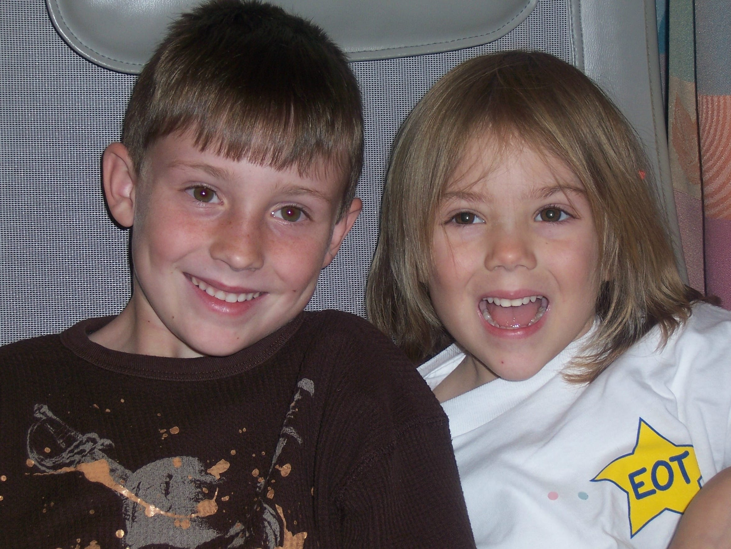 Kacie Francois and her brother, Jacob, at the end of