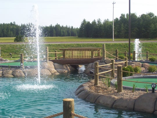 Eagle Falls Adventure Golf and Laser Tag has 20,000 gallons of water flowing through it with ponds and rivers.