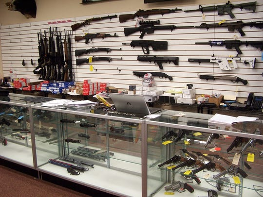 Inside Legend Firearms, which is within the Union Hill