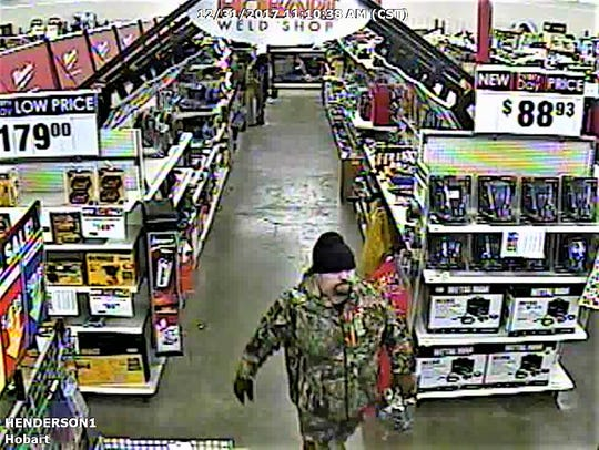 Video from Rural King of man accused of stealing a