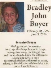 Bradley Boyer was only 24.