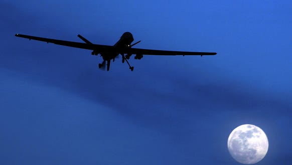 An American Predator drone photographed in 2010.