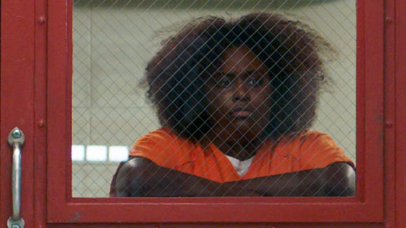"""""""There ain't no justice,"""" Taystee (Danielle Brooks)"""