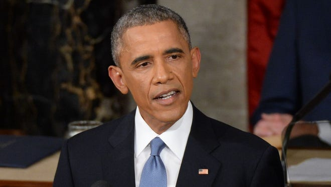 President Barack Obama delivers the State of the Union address.