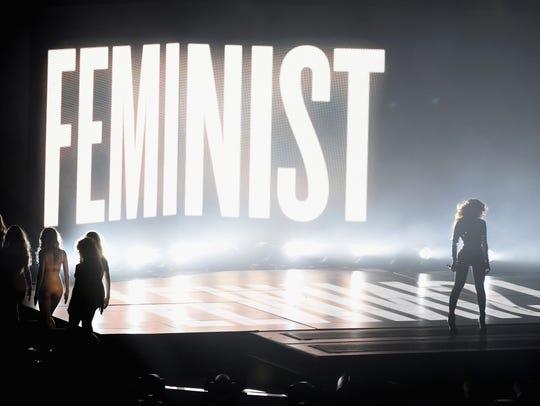 2014: Beyonce's feminist statement.