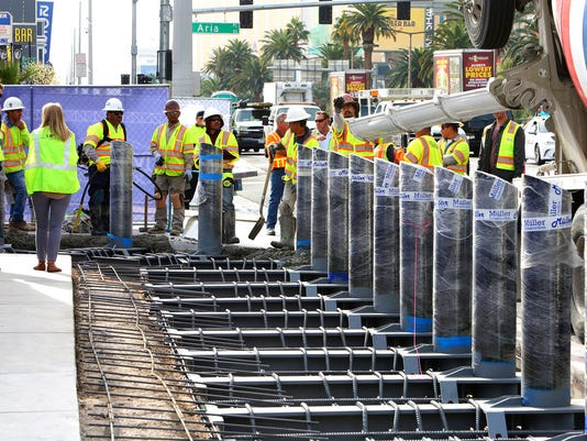 Las Vegas Strip construction