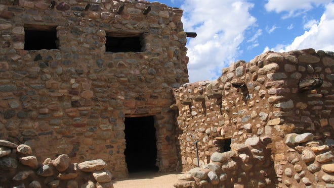 The Besh-Ba-Gowah Archaeological Park, just outside Globe, is the remnant of an ancient Salado village and trading center, occupied from about 1225 to 1400. Several structures, like this one, located just off the central plaza, were two stories high.