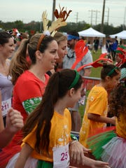 Antlers were the uniform of the day at the Reindeer 5K.