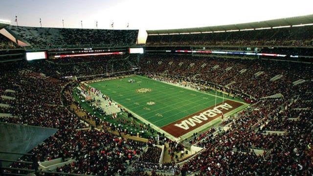 Bruant-Denny Stadium in Tuscaloosa, Ala., seats more than 80,000