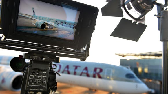 Qatar Airways first Airbus A350 is seen in Toulouse,