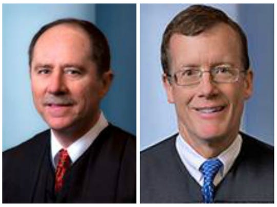 From left, Justice Daryl Hecht and Justice Edward Mansfield.