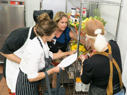 Chefs Dina Roosth, Melissa Zolla, Dr. Brian Moriarty,
