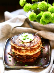 Irish boxty can be served at breakfast with butter,