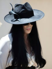 Cher arrives for the funeral of Gregg Allman.
