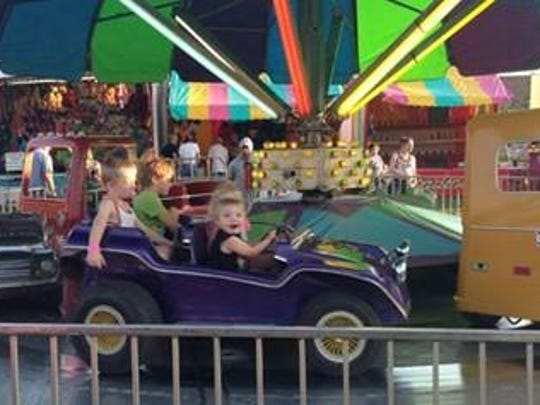 A carnival with rides and activities for kids are part of the Stockton Black Walnut Festival.
