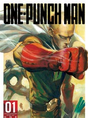 """One-Punch Man"" cover art from the first issue of the popular series."
