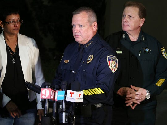 Kissimmee Police Chief Jeff O'Dell speaks to media