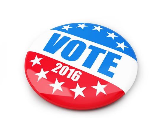 VOTE 2016 pin