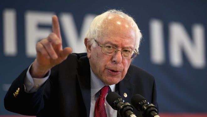 Democratic presidential candidate Sen. Bernie Sanders (D-Vt.) speaks at a rally on Friday in Elko, Nevada.