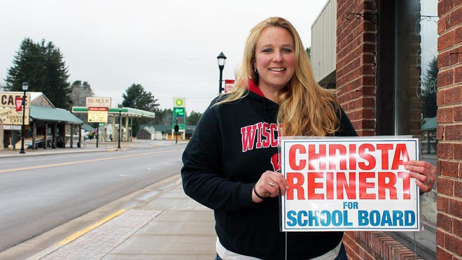 Community whistleblower Christa Reinert ran successfully for the Mercer School Board but was defeated for re-election in April 2019.