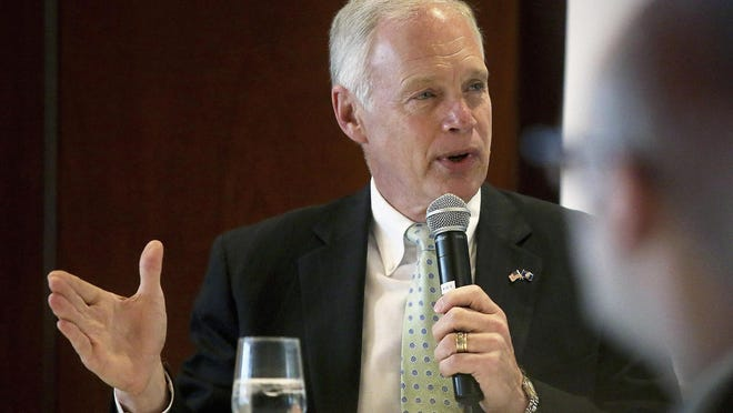Sen. Ron Johnson, R-Wis., speaks at a luncheon in Madison in October.