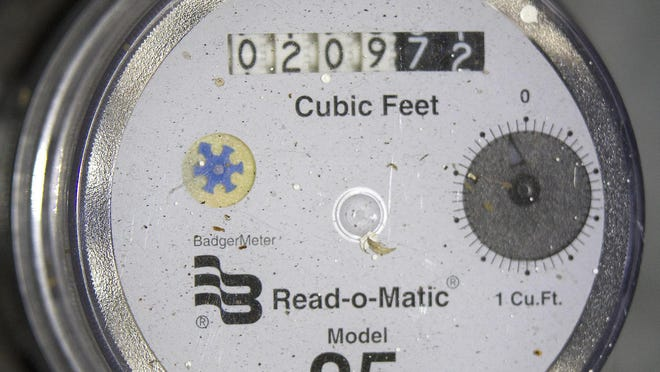 Manual reading of water meters is being phased out.