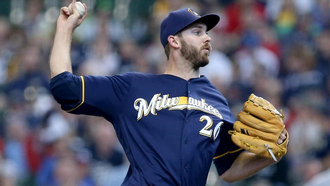 Brewers starter Taylor Jungmann lasted four innings Thursday, April 21 giving up three runs on four hits and walking six batters. The Brewers lost to the Twins, 8-1.