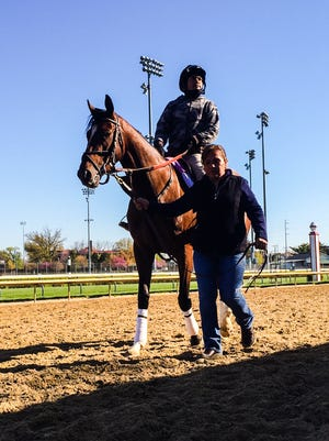 Brody's  Cause returned to the track Wednesday for a jog at Churchill Downs.