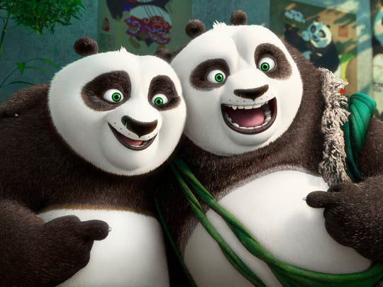 """Kung Fu Panda 3"" (PG): Jack Black returns as Po, the chubby Panda who is also a Kung Fu master. Angelina Jolie, Dustin Hoffman, Jackie Chan and Seth Rogen are also back, among others. Further adventures, etc., but also a reminder that there must have been a ""Kung Fu Panda 2."""