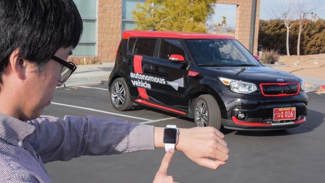 Autonomous valet parking, activated using a smart key or a smartwatch, lets the vehicle park itself remotely.