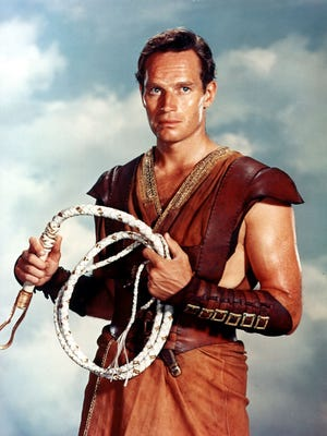 """Actor Charlton Heston poses in character, in the title role of the motion picture """"Ben-Hur."""""""