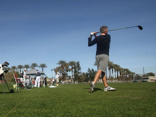 The driving range at College of the Desert, part of the golf management program at the school, was where Tony Manzoni did much of his teaching and coaching for 29 years.