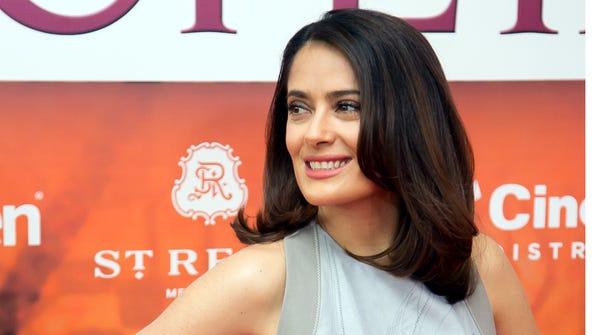 Salma Hayek, actriz mexicana.