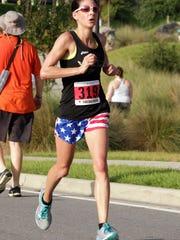 Katie Sherron at Firecracker 5K on July Fourth