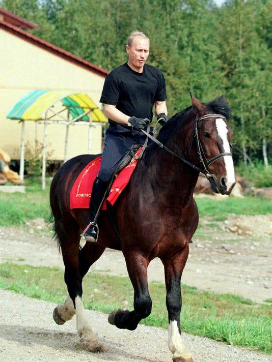 AFP RUSSIA-PUTIN-HORSE GOVERNMENT RUS KARELIA
