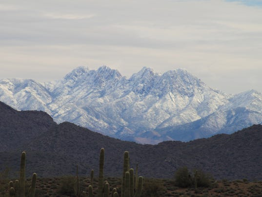 Four Peaks with snow