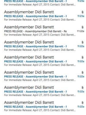 Barrett email
