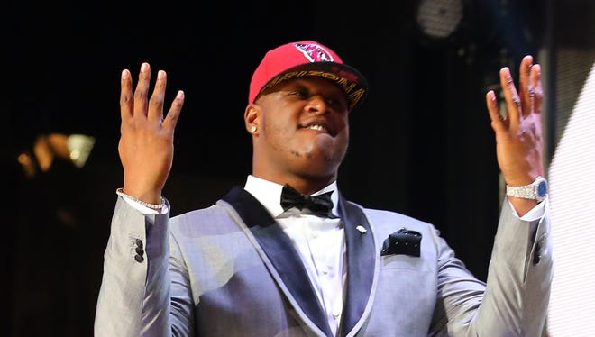First rounder D.J. Humphries could be the draft's top left tackle, though he might force an O-line shuffle.