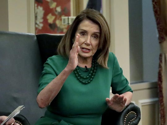 Speaker of the House Nancy Pelosi, D-Calif., addresses