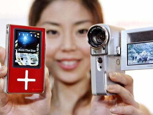 A model displays Japan's electronics gia