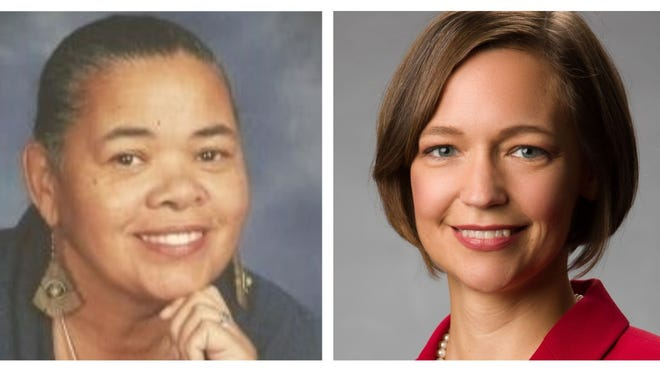 The Democratic candidates for the 2nd congressional district are Audri Scott Williams (left) and Tabitha Isner (right).