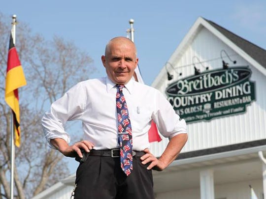 Mike Breitbach, owner of Breitbach's Country Dining in Balltown.