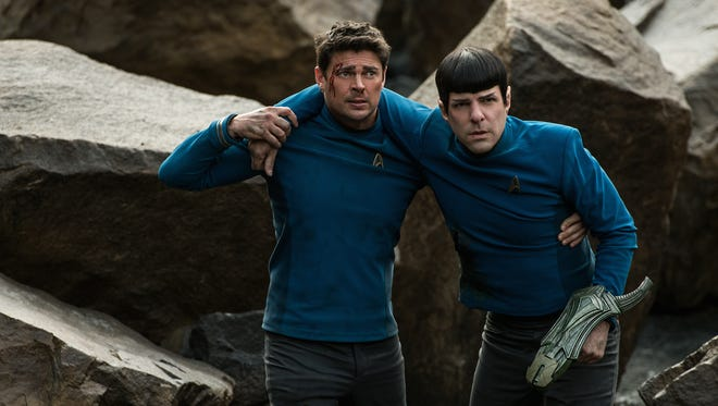 """Star Trek Beyond,"" starring Karl Urban, left, as Bones and Zachary Quinto as Spock, opens in theaters this week."