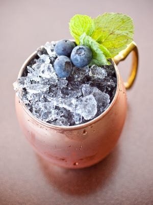 The Blueberry Mule at Jade Bar at the Sanctuary Resort and Spa in Paradise Valley.