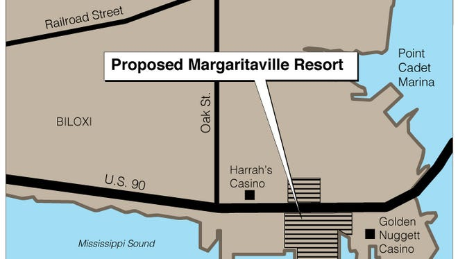 Proposed Margaritaville Resort site in Biloxi, Miss.