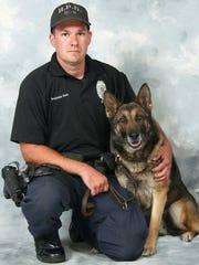 Hattiesburg police officer Benjamin J. Deen and his K-9