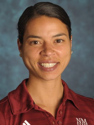 New Mexico State women's basketball assistant coach Ashley Ford.