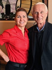 Ron Hare (right), his daughter Charlene (left) at Norma's Italian Kitchen in Rancho Mirage.