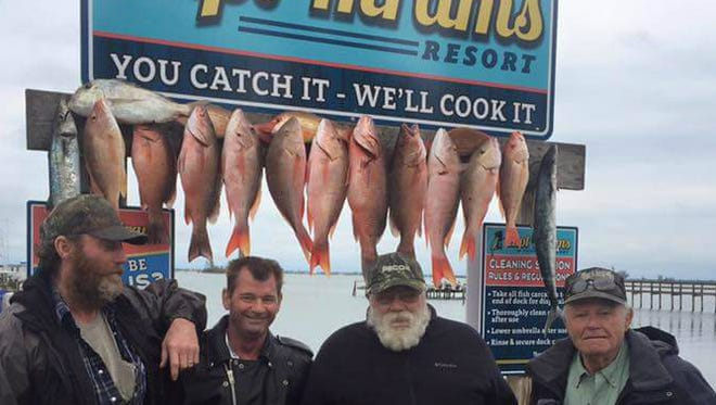This crew fished Sunday with Capt. Terry Wildey aboard Big Easy fishing charters out of Capt. Hiram's Resport in Sebastian to catch lane snapper, mutton snapper and kingfish.